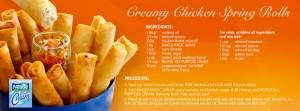 Creamy Chicken Spring Rolls