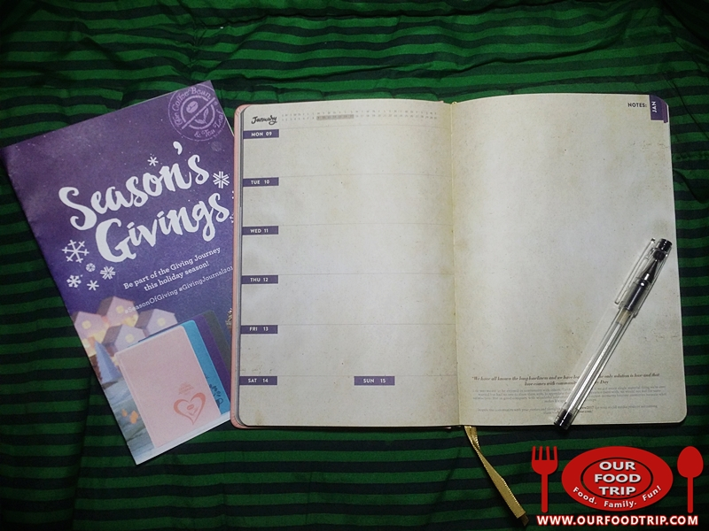 Coffee Bean & Tea Leaf® 's 2017 Giving Journal