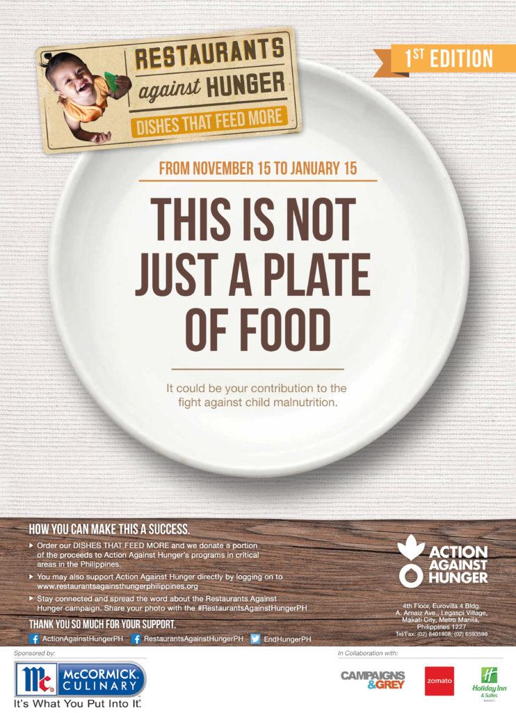 Restaurants Against Hunger Poster