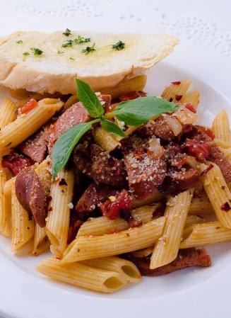 king sue penne pasta with hungarian sausage